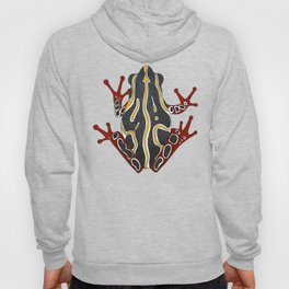 congo tree frog orange Hoody