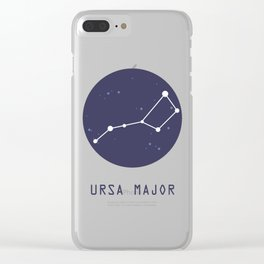 Ursa Major Constellation Clear iPhone Case