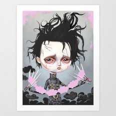 Edward Scissorhands Is Sad Art Print