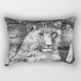 AnimalArtBW_Lion_20171014_by_JAMColorsSpecial Rectangular Pillow