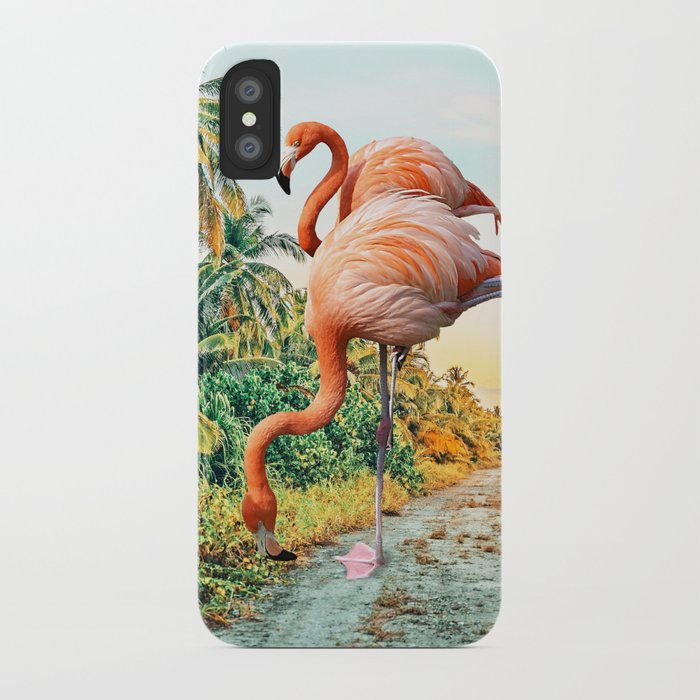 Flamingo Vacay #photography #surrealism iPhone Case