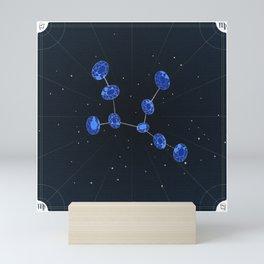 Virgo + September Sapphires Mini Art Print
