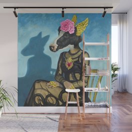Sitting flamenco dancer Wall Mural