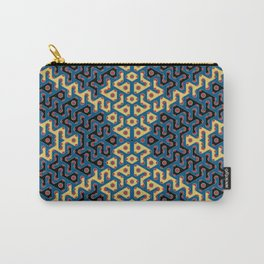 Squiggle Trails Most Awesome Yellow Red Blue and Black Carry-All Pouch