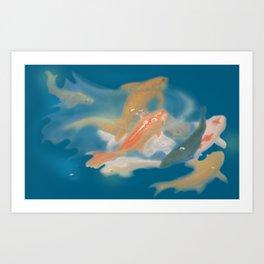 koi {blue} Art Print
