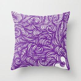 Seeing Purple Throw Pillow