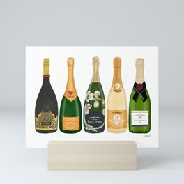 Champagne Bottles Mini Art Print