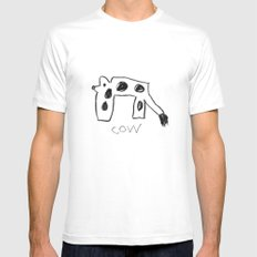 My Cow Drawing MEDIUM Mens Fitted Tee White