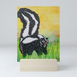 Watercolor Skunk Mini Art Print