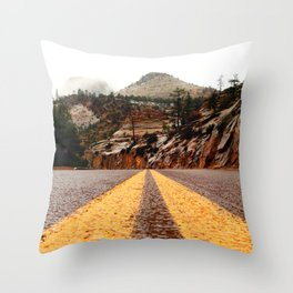 """The Road"" Throw Pillow"