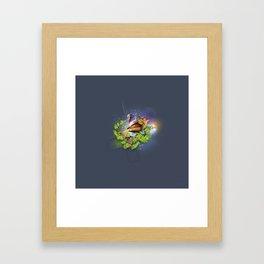 Even the sparrow Framed Art Print