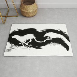 Chasing Wolves Rug