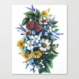 United States of Wildflowers Canvas Print