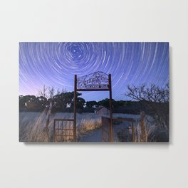 Startrails on Dicovery Trail Metal Print