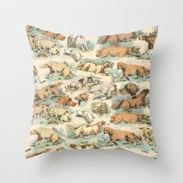 CRAZY BIRDDOGS IN THE FIELD Throw Pillow
