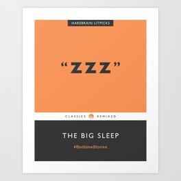 ZZZ - The Big Sleep (Orange) Art Print