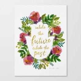 Inhale the Future Canvas Print