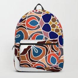 Multicolored abstract fractal mandala Backpack