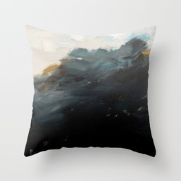 The Sun and Forest from A Far LandscapeAbstract Throw Pillow