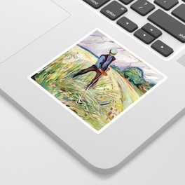 The Haymaker by Edvard Munch Sticker