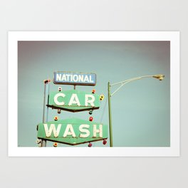 National Car Wash Art Print