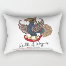 Eagle puppet characters in the story of Ramayana Rectangular Pillow
