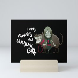 Unusual Series - A Girl & Her Dog Mini Art Print