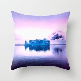 Pink Antarctica Throw Pillow