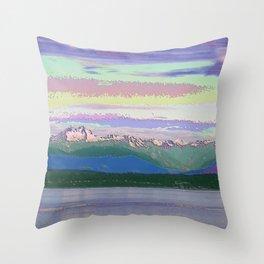 Mt Constance Enamel Throw Pillow