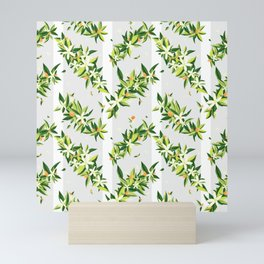 Orange Blossom Stripes Mini Art Print