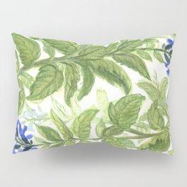 Blue Wildflower Watercolor Pillow Sham