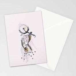 moto flower Stationery Cards