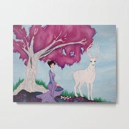 Fuchsia Tree Metal Print