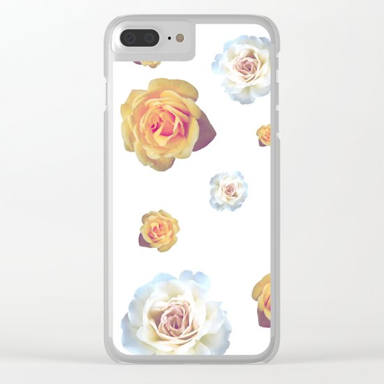 Flower Wall Clear iPhone Case
