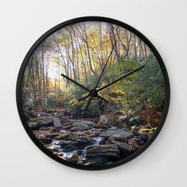 Boone Fork Creek in Autumn Wall Clock