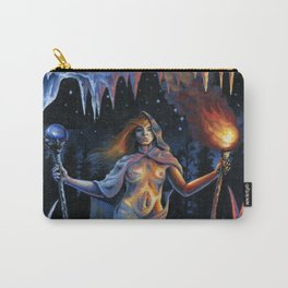 Two of Wands - Woman & Wolves Carry-All Pouch