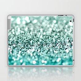 Aqua Glitter Laptop & iPad Skin