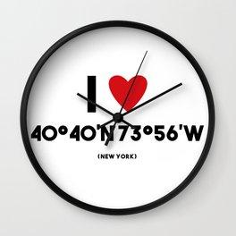 I LOVE NEW YORK Wall Clock