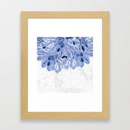 Elegant Blue Flowers Design Framed Art Print