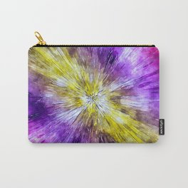 Watercolor Tie Dye Starburst Carry-All Pouch