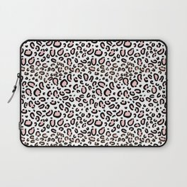 Leopard print rose quartz pantone color minimal animal print cute children pattern cheetah spots  Laptop Sleeve