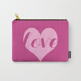 Love in a heart  Carry-All Pouch