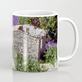Little farm in the Provence with lavender Coffee Mug