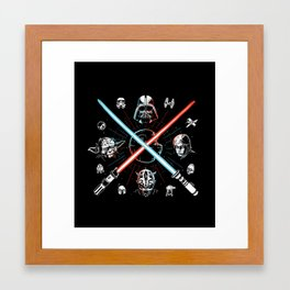 Choose a side, you must Framed Art Print