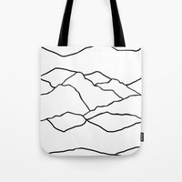 cracked Tote Bags featuring CRACKED by Brukk