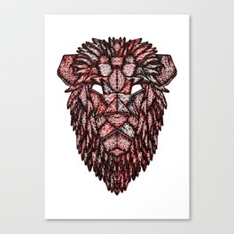 Lion Mask Canvas Print