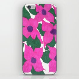 Spring Classic Pink Flowers iPhone Skin