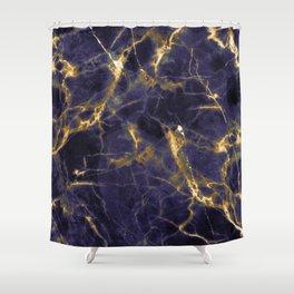 Majesty Purple Marble With 24-Karat Gold Hue Veins Shower Curtain