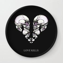 Skullheart - love kills s/w Wall Clock