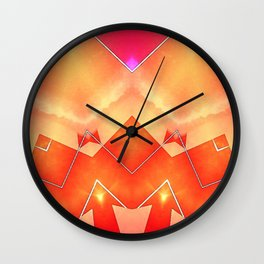 Vibrant South Western Inspired Abstract Wall Clock